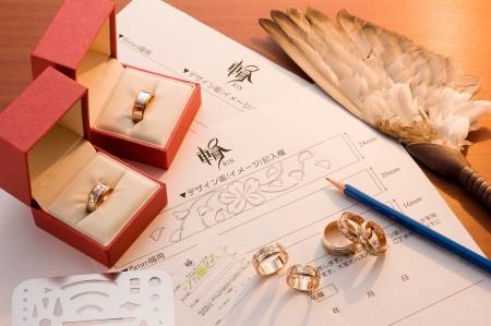 手彫り 結婚指輪