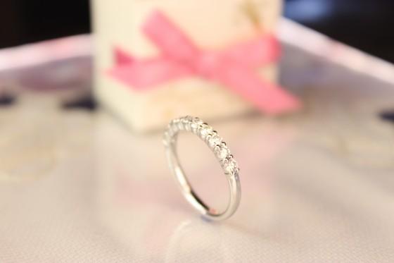 クリスマスにダイヤモンドリング