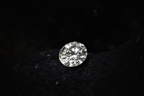輝きの強いダイヤモンド